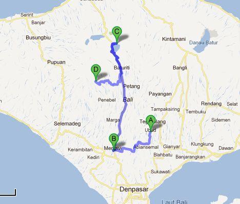 Tour von Ubud aus in die Umgebung.