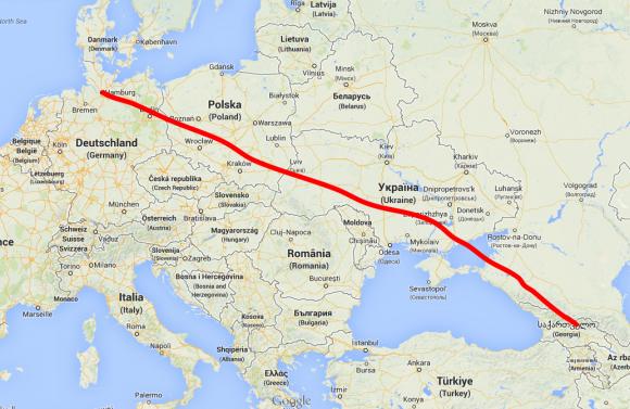 von Deutschland nach Georgien