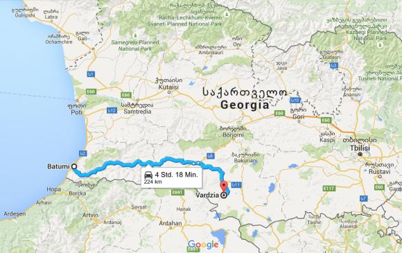 Strecke-Batumi-Vardzia