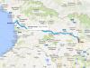 Route Anaklia - Tbilisi