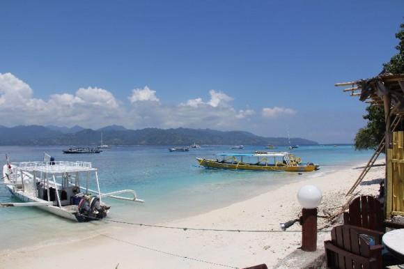Gili Trawangan, Blick nach Lombok