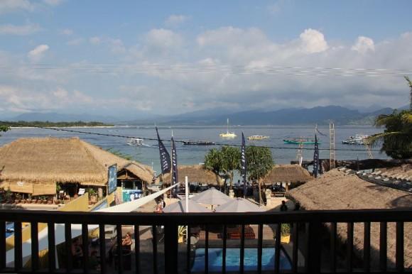 Gili Trawangan, Blick vom Balkon